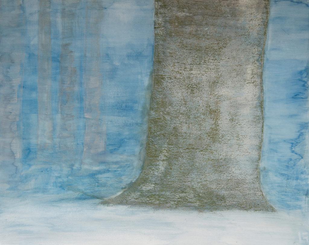 Toile polychrome, série Danse des arbres